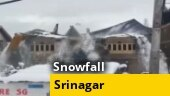 Watch: House collapses due to incessant snowfall in Srinagar