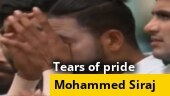 Image of the day: Siraj breaks down in tears during national anthem ahead of Sydney Test