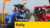 Protesting farmers take out tractor march against farm laws | Watch