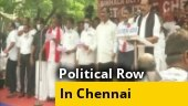 Opposition parties protest outside Sri Lankan Deputy High Commission in Chennai