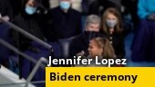 Jennifer Lopez performs 'This Land is Your Land' at Joe Biden's oath-taking ceremony