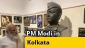 PM Modi visits National Library in Kolkata, pays floral tribute to Netaji