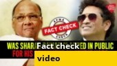 Fact Check Video: Was Sharad Pawar slapped in public for his statement on Tendulkar?