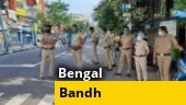 Left-Cong activists clash with police during march over jobs; 12-hour bandh called in Bengal