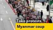 Thousands march in Tokyo against Myanmar coup; Navalny supporters hold flashlight protests on V-Day; more