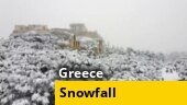 Greece witnesses heaviest snowfall in over decade