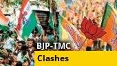 TMC, BJP workers clash during Suvendu Adhikari's roadshow in Kolkata