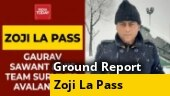 Narrow escape for India Today team as avalanche strikes Zoji La Pass | Ground report from -15 degrees
