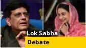 Harsimrat Kaur Badal vs Piyush Goyal at Lok Sabha on farmers' issue