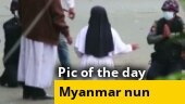 Image of the day: Nun kneels before Myanmar military to save protesters