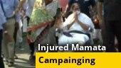 Mamata Banerjee holds roadshow in Kolkata on a wheelchair