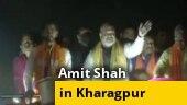 Watch: Amit Shah holds massive roadshow in Bengal's Kharagpur