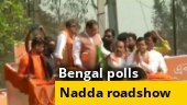 Bengal polls: BJP chief JP Nadda hold roadshow in Bankura district's Kotulpur