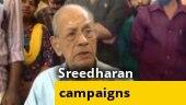 Watch: BJP's E Sreedharan hits campaign trail in Kerala's Palakkad