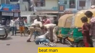 Coronavirus: 2 policemen brutally thrash Indore man after his mask slips down | WATCH