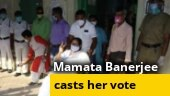 Bengal elections: Mamata Banerjee casts her vote in Kolkata