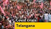 Political parties defy Covid norms in Telangana ahead of local body polls
