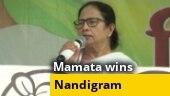 Mamata defeats Suvendu Adhikari by 1200 votes in Nandigram