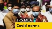 BJP shares video of TRS MLA flouting covid norms amid lockdown