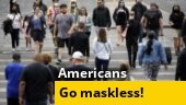 CDC says many Americans can now go outside without a mask