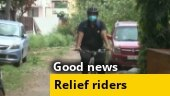 Good news: Bengaluru's cyclists turn relief riders, deliver essentials to those hit by Covid