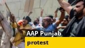 Punjab: AAP holds protest against post-matric scholarship 'scam'