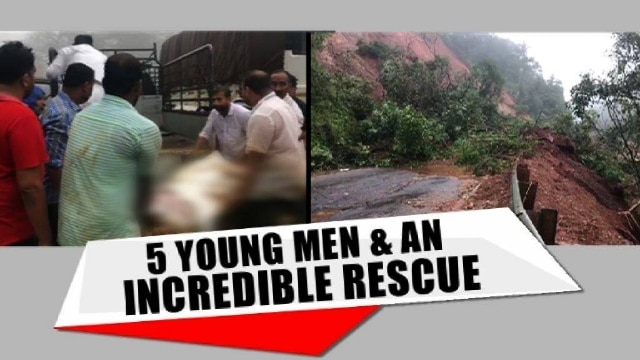 Incredible rescue amid floods. Young men save 8 from hillside | Watch to know Mo.