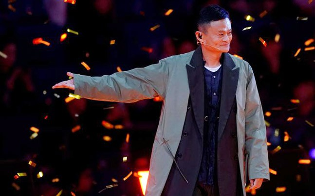 Jack Ma, Chairman of Alibaba Group, attends a show during Alibaba Group's 11.11 Singles' Day global shopping festival in Shanghai, China, (Photo: Reuters)