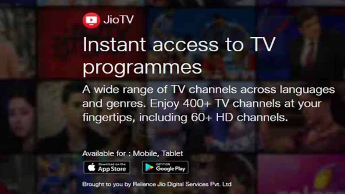 Reliance JioTV is no longer available on web due to legal issues