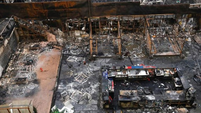 The site of the Kamala Mills fire (Photo: Reuters)