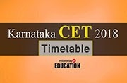 Karnataka CET 2018: Timetable released at kea.kar.nic.in, check now