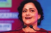 Kalli Purie delivers the welcome speech at Safaigiri Awards 2017.