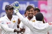 1st Test, Day 1: Play called off due to bad light after Suranga Lakmal rocks India