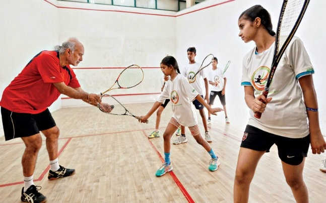 Squash coach Satinder Bajwa (Photo: Sandeep Sahdev)