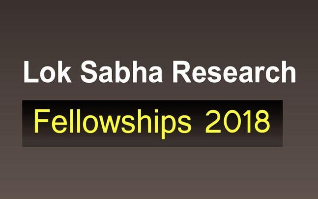 Lok Sabha Research Fellowships 2018: Apply now