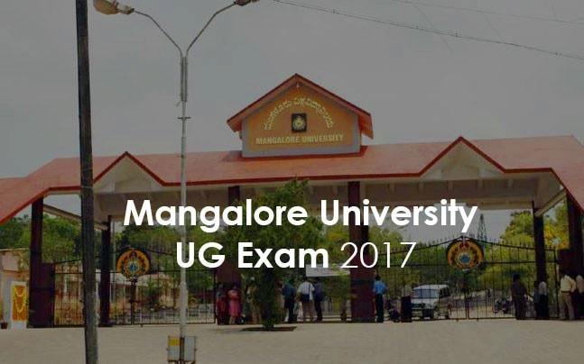 Mangalore University UG Exam 2017