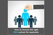 How to choose the right MBA school for aspirants