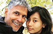 Milind Soman trolled for dating 18-year-old girl