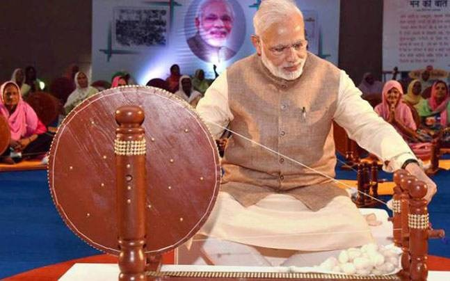Khadi will become popular in Streets of Dubai, Chicago, Mauritius & Johannesburg by PM Modi