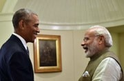 Barack Obama, the first US President PM Narendra Modi hugged, likely to meet him today
