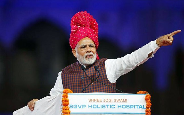 Narendra Modi's (Image) BJP now has 100 seats in Gujarat, thanks to an independent MLA (Photo: Reuters)
