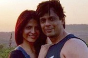 Rashmi with her husband Asif