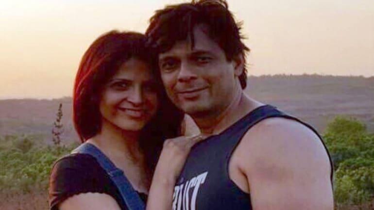 Rashmi with her husband Asif