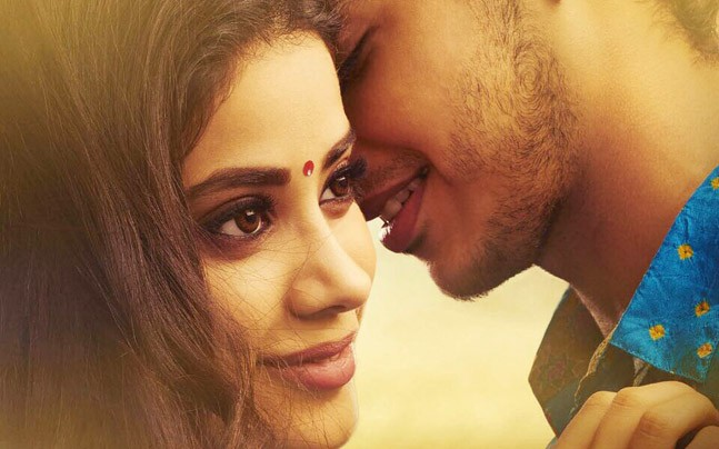 Janhvi Kapoor and Ishaan Khatter in the poster of Dhadak