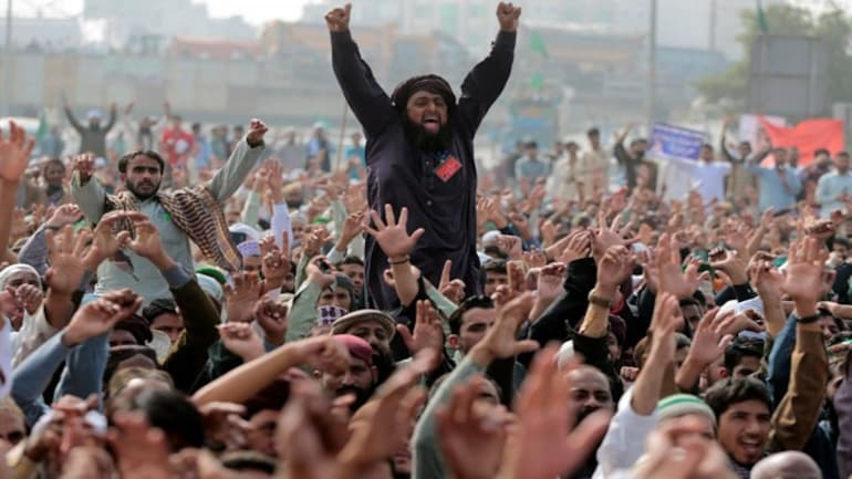 Anti-blasphemy protest in Pakistan
