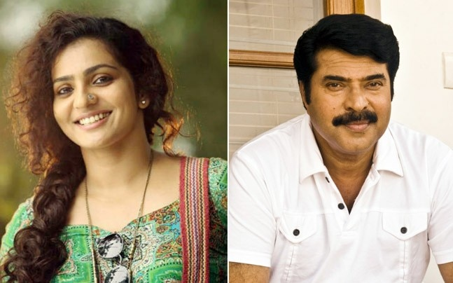 Parvathy (L) and Mammootty