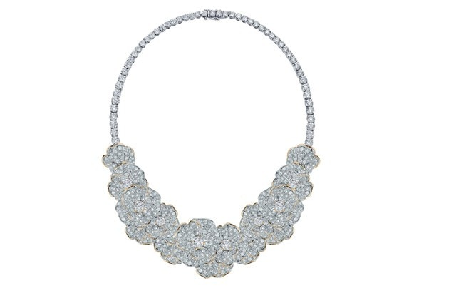 Big choker which can be divided into a smaller tennis line necklace from the AW Trends Collection Geo-Deco; Geo-Nature