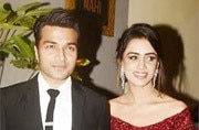 TV couple Smriti Khanna and Gautam Gupta's wedding reception was a star-studded affair