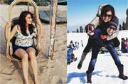 While Drashti Dhami was holidaying with hubby Neeraj Khemka in Gulmarg, Surbhi Jyoti was chilling on the beaches of Goa. Here's what other TV celebs were up to this weekend.