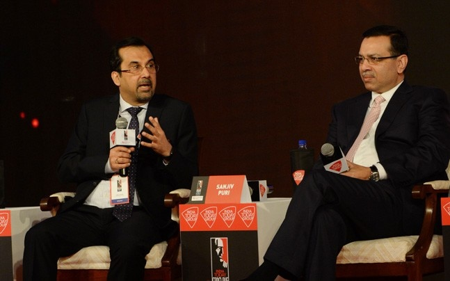Sanjiv Goenka and Sanjiv Puri at India Today Conclave East 2017